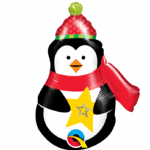 "Christmas Precious Penguin Foil Balloon (14"" Air-Fill) 1pc"